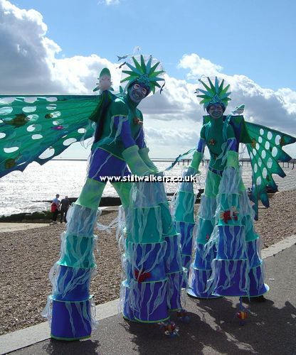 Nautical or Maritime Themed Stilt Walkers