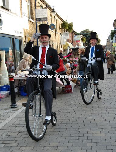 Victorian Penny Farthing Riders