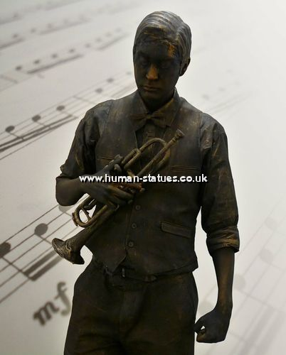 Music Themed Human Living Statues